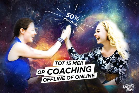korting op coaching tot 15 mei